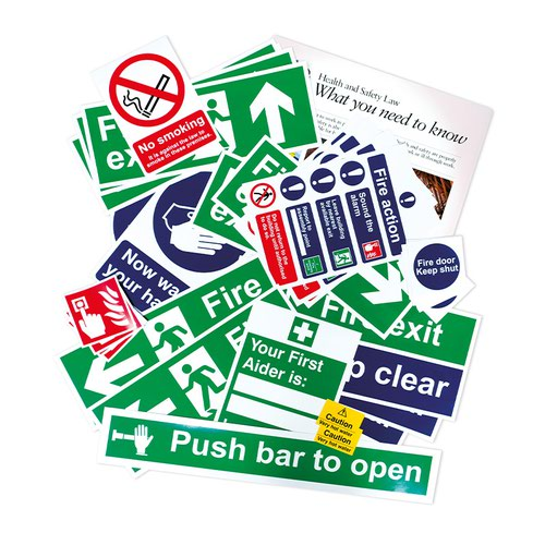 Health And Safety Poster Pack, Non Adhesive 1mm Rigid PVC Board
