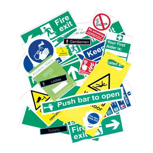 Health And Safety Signage Pack, Self Adhesive Vinyl