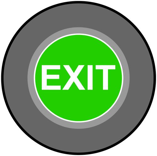 Exit Floor Graphic adheres to most smooth clean flat surfaces and provides a durable long lasting safety message. 400mm dia.