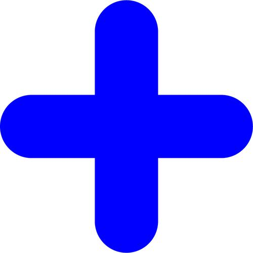 """Blue Symbol """"+"""" Floor Graphic adheres to most smooth clean flat surfaces and provides a durable long lasting safety message. 300x300mm pack Of 10"""
