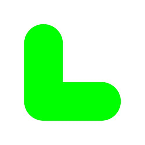 """Green Symbol """"L"""" Floor Graphic adheres to most smooth clean flat surfaces and provides a durable long lasting safety message. 200x200mm pack Of 10"""