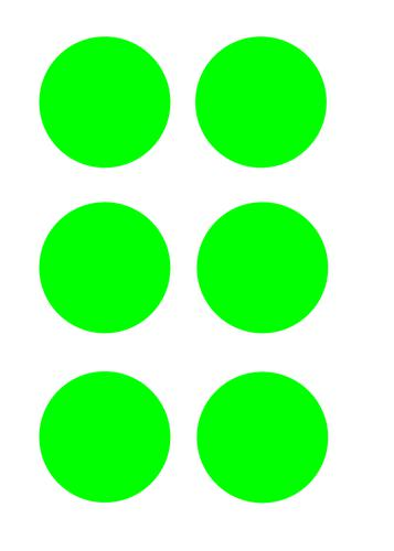 Green Circles Floor Graphic adheres to most smooth clean flat surfaces and provides a durable long lasting safety message. 90mm diameter Pack Of 100
