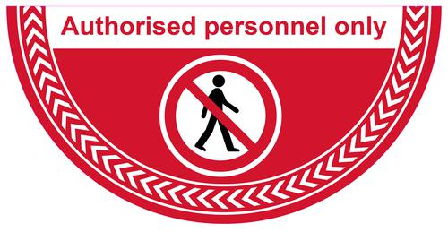 Authorised Personnel Only Floor Graphic adheres to most smooth clean flat surfaces and provides a durable long lasting safety message. 750x375mm