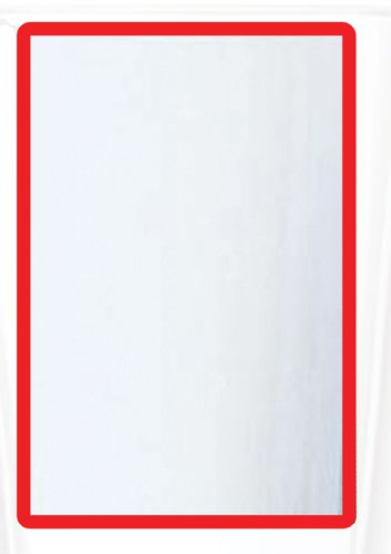 A3 Magnetic Document Frame - Red (Pack of 10)