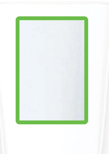 A4 Magnetic Document Frame - Green (Pack of 10)