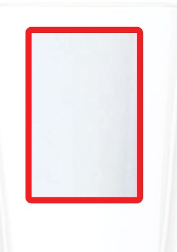 A4 Magnetic Document Frame - Red (Pack of 10)