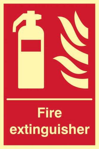 Fire Extinguisher' Sign; Flexible Photoluminescent Vinyl (200mm x 300mm) 1