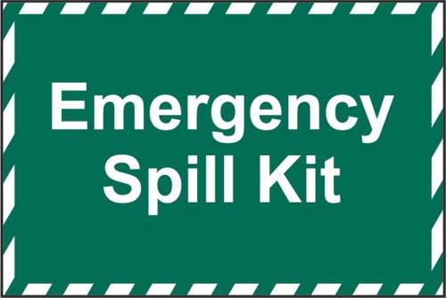 Emergency Spill Kit' Sign; Non Adhesive Rigid 1mm PVC Board (600mm x 400mm)