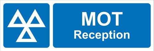 MOT Reception' Sign; Rigid PVC Board (600mm x 200mm)