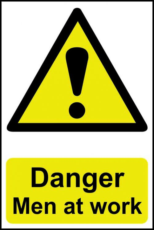 Spectrum Industrial Danger Men At Work S/A PVC Sign 400x600mm 4104