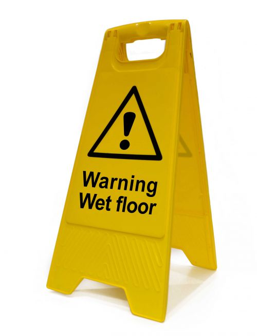 Spectrum Industrial Heavy Duty A Board Warning Wet Floor 4702
