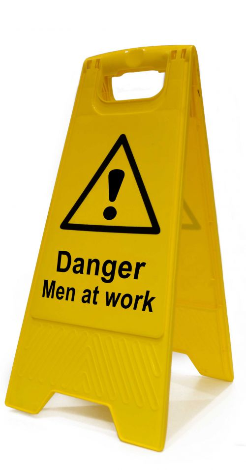 Spectrum Industrial Heavy Duty A Board Danger Men At Work 4710