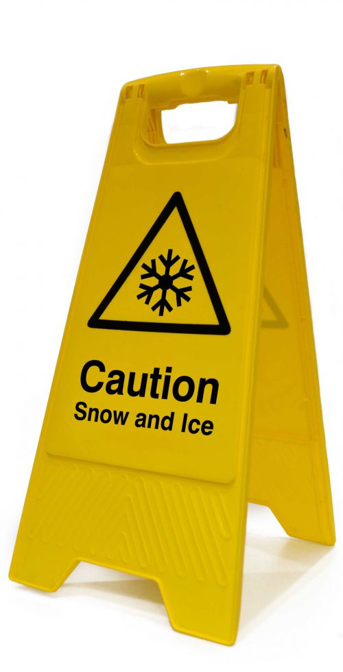 Caution Snow And Ice Heavy Duty A Board