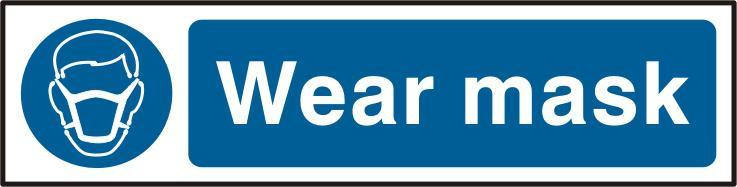 Mandatory Self-Adhesive PVC Sign (200 x 50mm) - Wear Mask