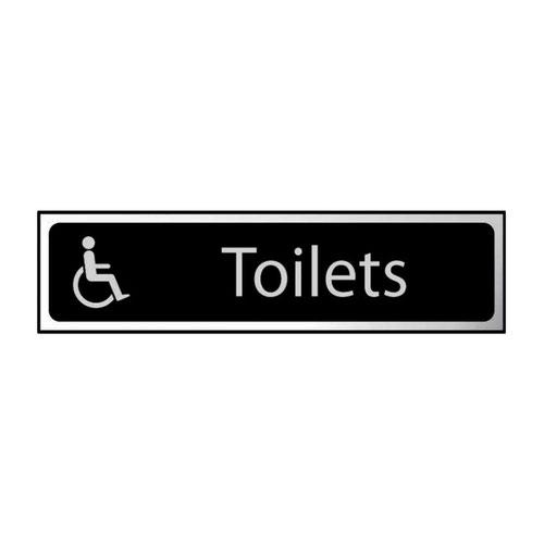Toilets (disabled logo) - CHR (200 x 50mm)