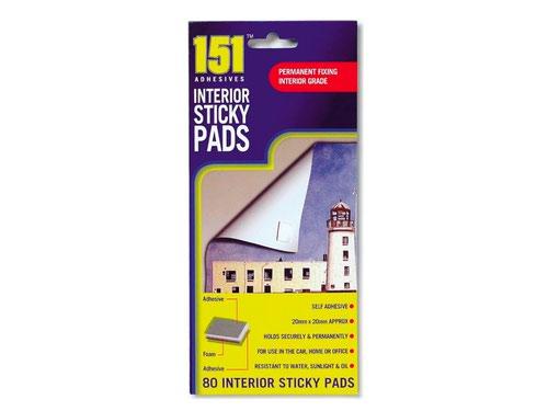 Interior Sticky Pads 80pk
