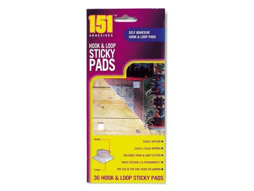 Hook & Loop Sticky Pads 36pk