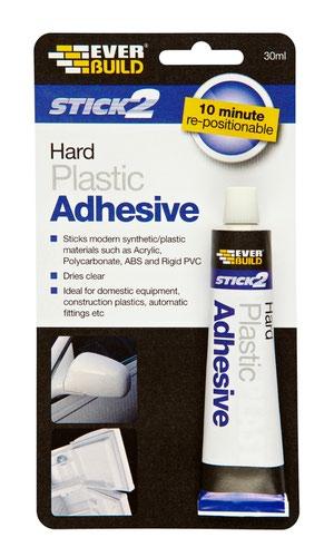 EverBuild 30ml Hard Plastic Adhesive (DGN)