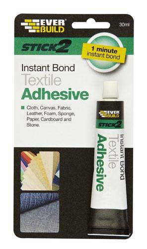 EverBuild 30ml Instant Textile Adhesive  (DGN)