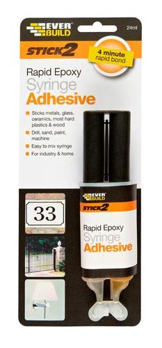 EverBuild 24ml Rapid Epoxy Syringe Adhesive (DGN)