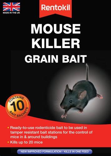 Rentokil Mouse Killer Grain Bait - 10 Sachet