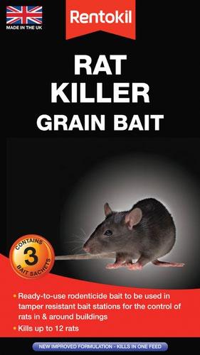 Rentokil Rat Killer Grain Bait - 3 Sachet