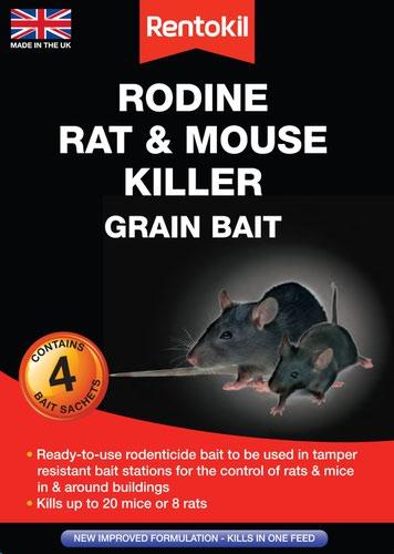 Rentokil Rat & Mouse Killer Grain Bait - 4 Sachet