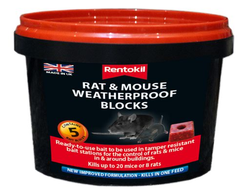 Rentokil Mouse & Rat Weatherproof Blocks - Pk5