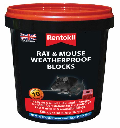 Rentokil Mouse & Rat Weatherproof Blocks-10Sachet