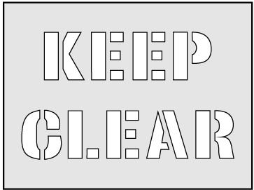 Keep Clear Stencil (600 x 800mm)