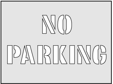 No Parking Stencil (190 x 300mm)