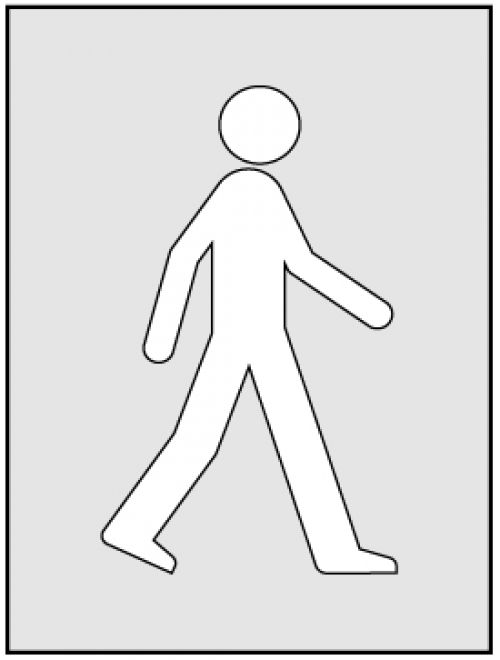 Walking Man Stencil (300 x 400mm)