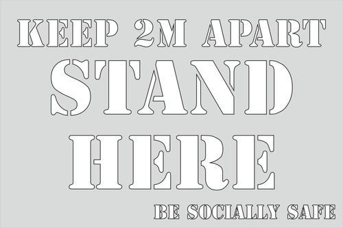 Keep Apart 2m Stencil (600 x 400mm)