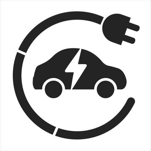 EV charging point symbol stencil - (850 x 850mm)