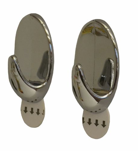 SAAO Removable Hook Chrome x2 (2910)