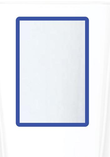 Magnetic A4 4 Document Frame - Blue