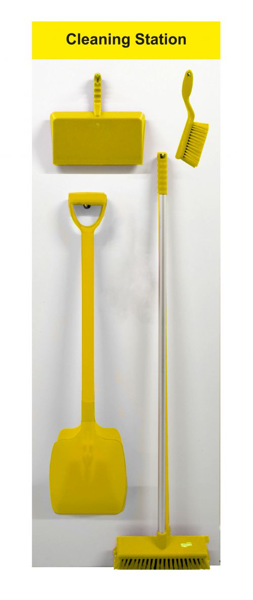 Spectrum Industrial Shadowboard Cleaning Station A Yellow SB-BD01-YL