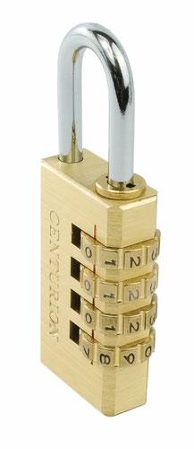 Brass Combination Padlock - 30mm (4 wheel)
