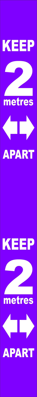 Purple Social Distancing Self Adhesive Semi Rigid PVC Wall Distance Marker (800 x 75mm) | STP183 | Spectrum Industrial