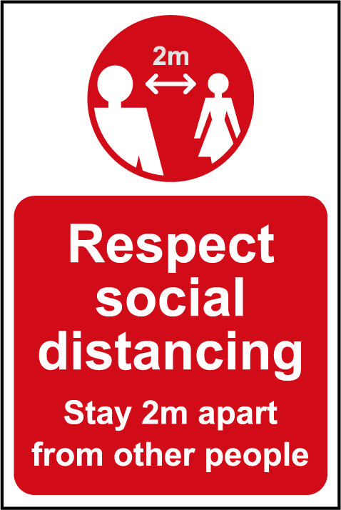 Lightweight and sturdy Correx A-Board (Red) Respect Social Distancing