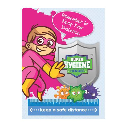 Shield Remember To Keep Your Distance Keep Safe Distance A-Board; Double Sided Print On Yellow