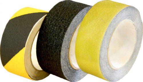 Non-slip floor tape Black/Yellow 75mm x 18.2m
