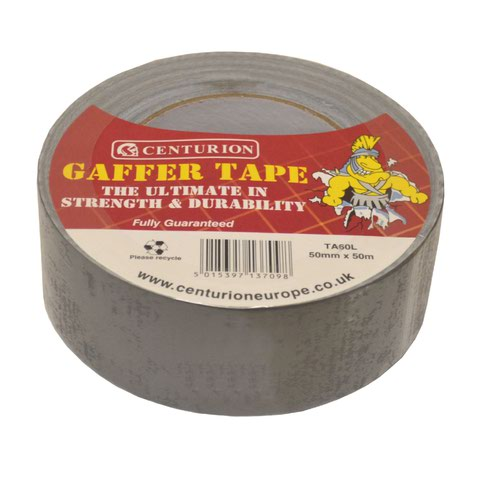 50mm x 50m Silver/Grey Waterproof Cloth Tape