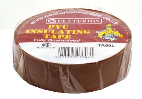 19mm x 20m Brown PVC Tape