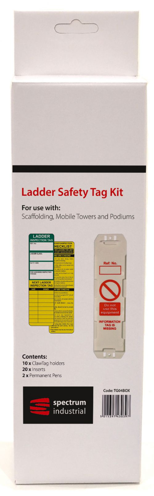 Spectrum Industrial Ladder Tagging System Box TG04BOX