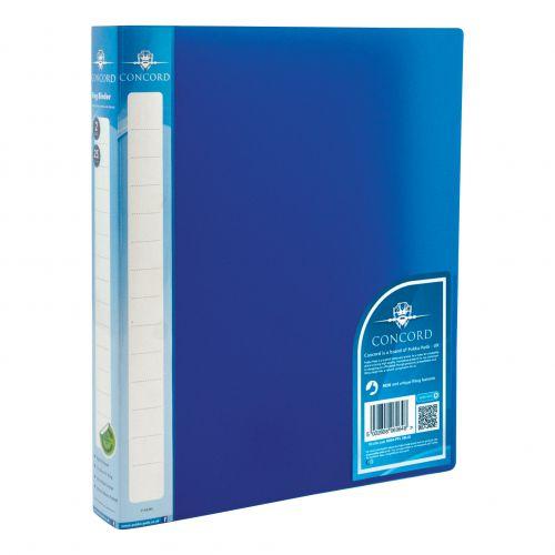 Concord Natural Ring BInder Polypropylene 2 O-Ring 25mm Size A4 Blue Ref 6064-PFL (BLU) [Pack 10]