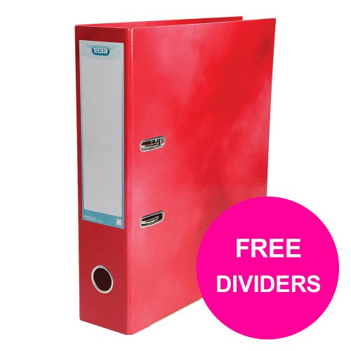 Elba Classy Lever Arch File 70mm Cap A4+ Red Ref 400021004_XX1220 [FREE Pack 10-part Dividers] Jan 12/20