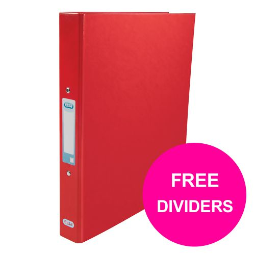 Elba Classy Ring Binder 25mm Cap A4+ Red Ref 400017755_XX1220 [FREE Dividers] Jan 12/20]