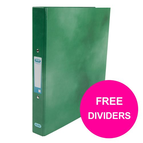 Elba Classy Ring Binder 25mm Cap A4+ Green Ref 400017756_XX1220 [FREE Dividers] Jan 12/20]