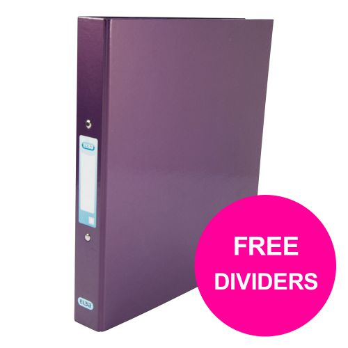 Elba Classy Ring Binder 25mm Cap A4+ Met Purp Ref 400017758_XX1220 [FREE Dividers] Jan 12/20